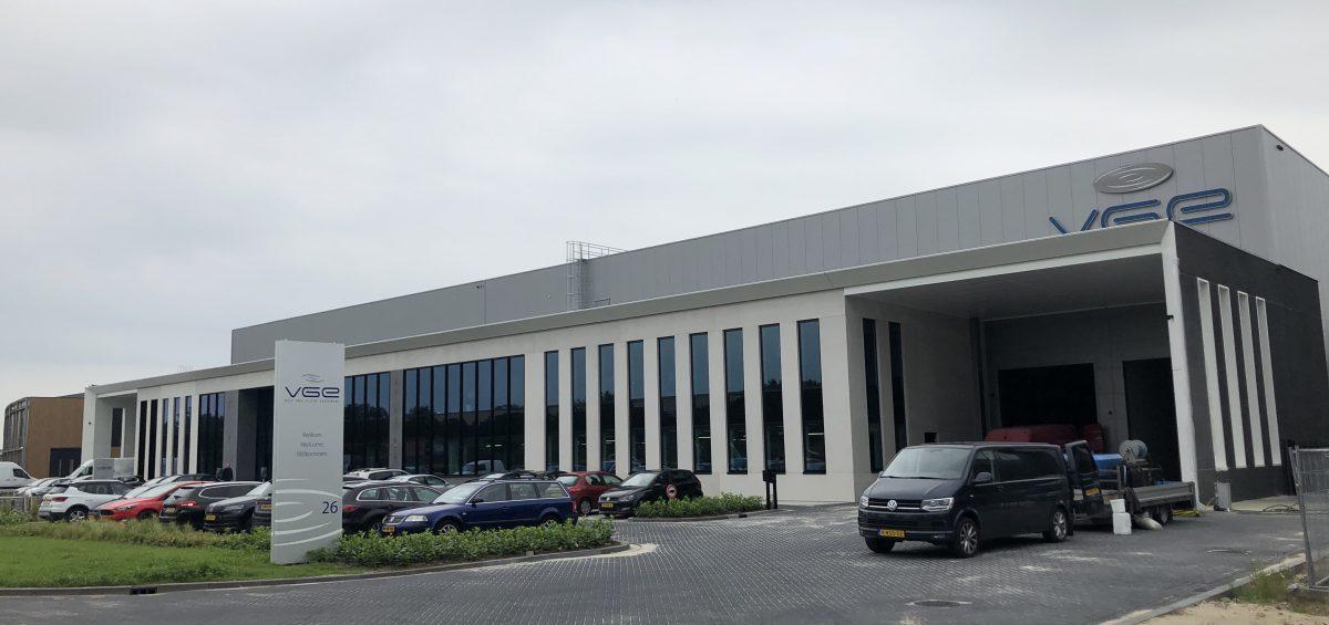 Time-labse van nieuwbouw VGE International in Schijndel