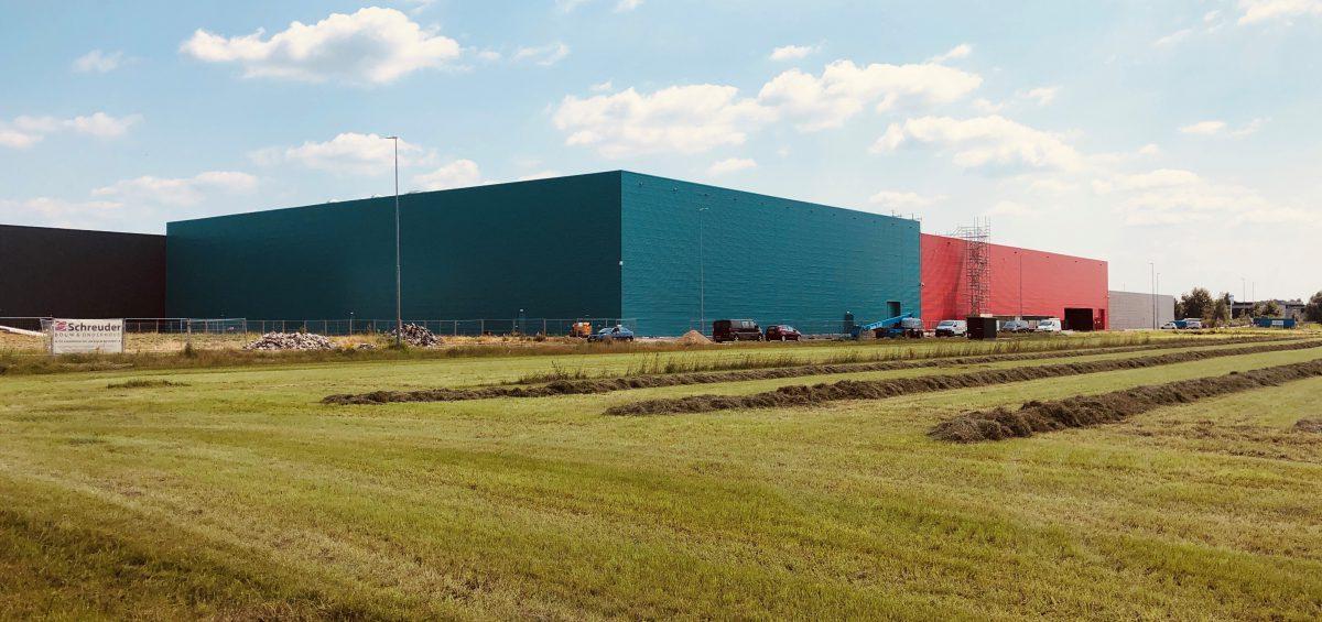 Voortgang uitbereiding warehouse Makita te Eindhoven